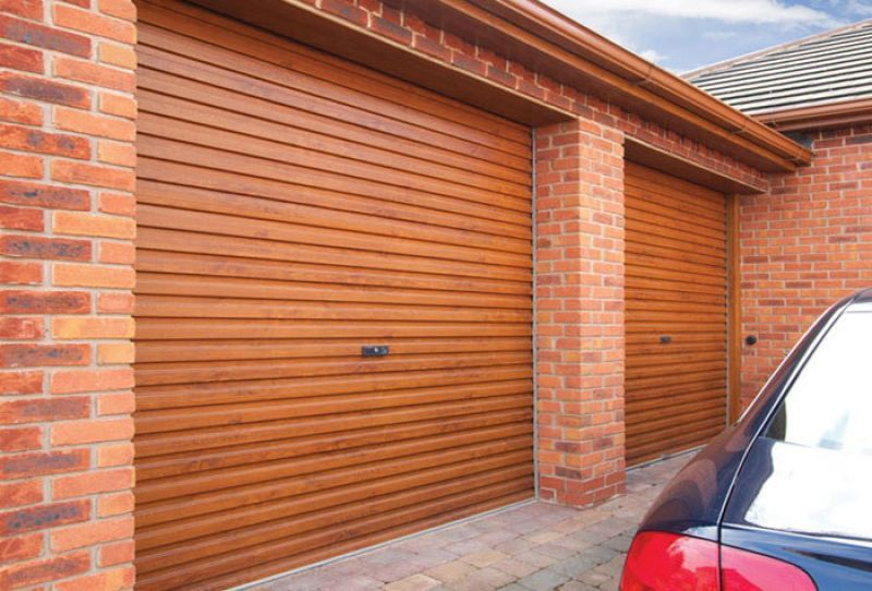 Gliderol  Roller Garage Door measuring 14 feet 10 inches wide.